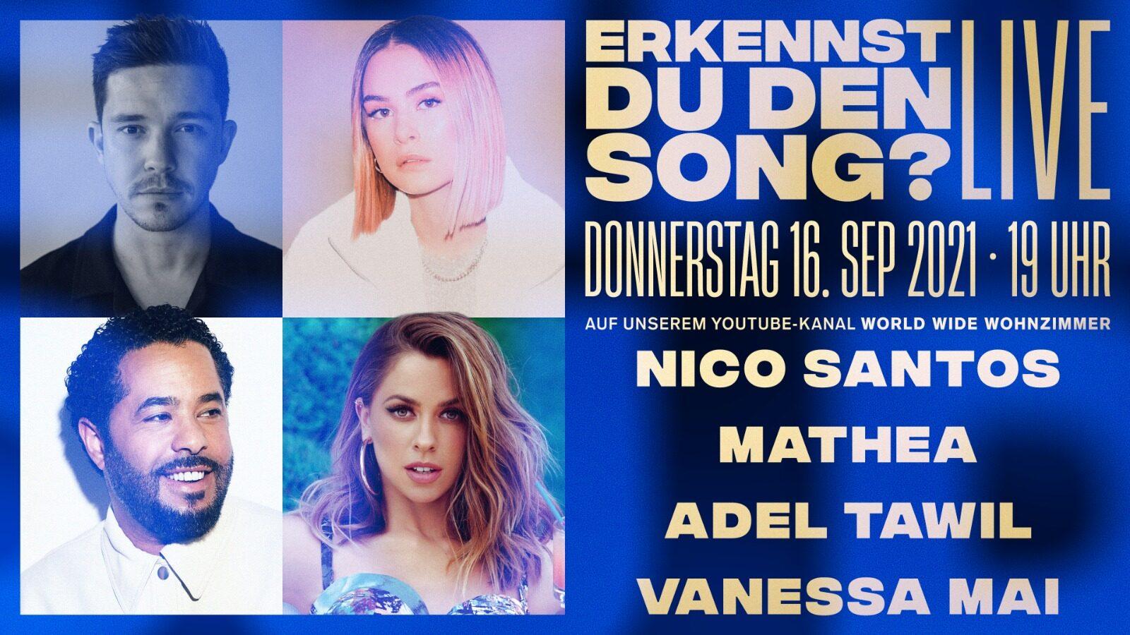 Nico Santos mit neuem Song bei World Wide Wohnzimmer Live-Show